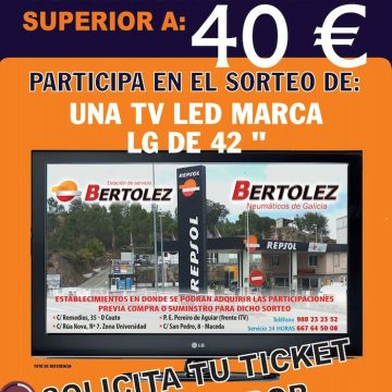 SORTEO TV LED LG 42″